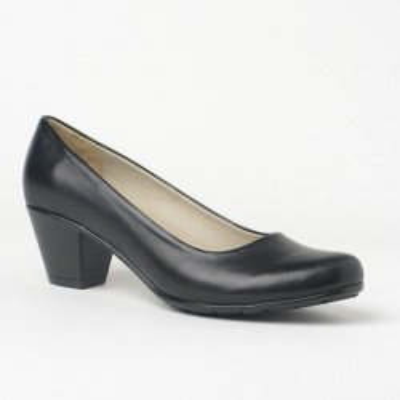 Kožne cipele na malu štiklu 700 crne