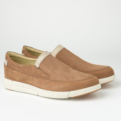 Kožne muške cipele/mokasine SF401-4 kamel