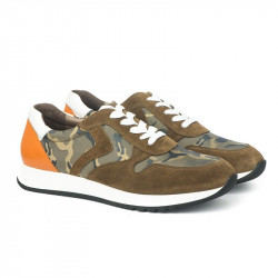 Kožne muške cipele / patike PA25621-6 maslinaste
