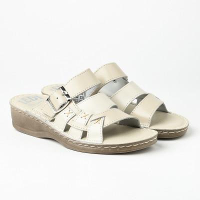 Kožne papuče 641 bež
