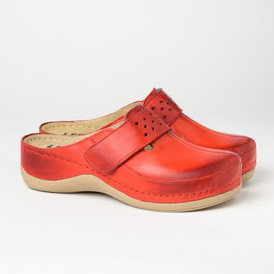 Kožne papuče/klompe 902 crvene