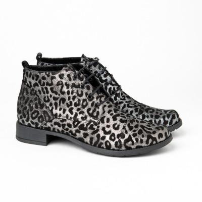 Kožne ženske cipele 2-901/25 leopard