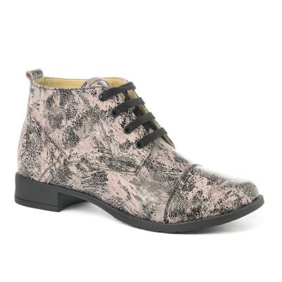Kožne ženske cipele 2-901 roze