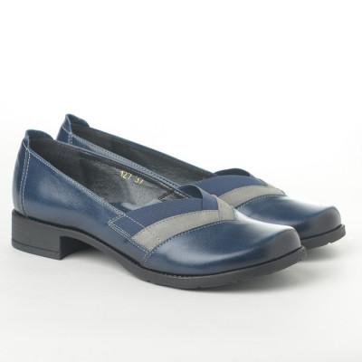 Kožne ženske cipele L-127/5 teget