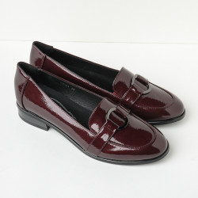 Lakovane cipele na malu petu C2124 bordo
