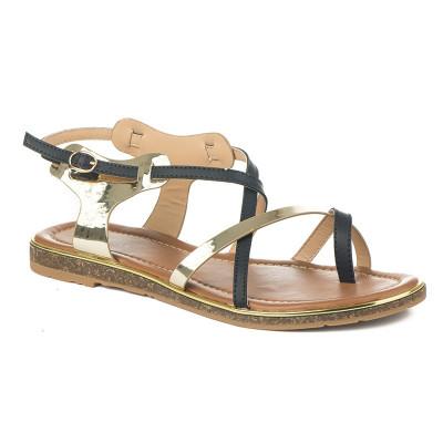Ravne sandale 8001-8 crne