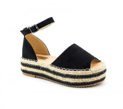 Sandale na debelom đonu LS90212 crne