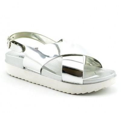 Sandale na debelom đonu LS91950 tamno srebrne