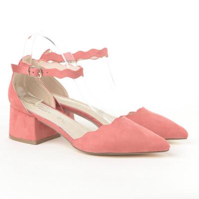 Sandale na malu štiklu LS772005 crvene