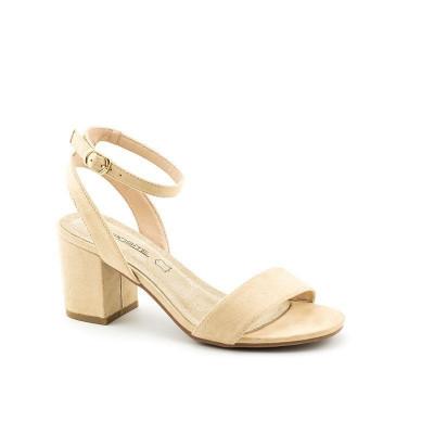 Sandale na malu štiklu LS91560 bež