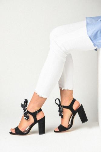 Sandale na štiklu LS391903 crne