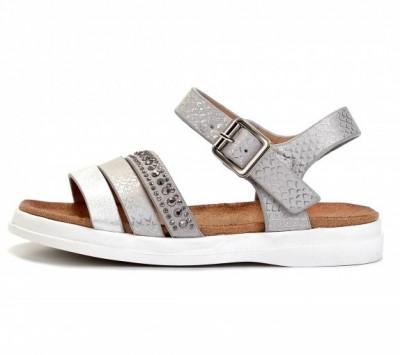 Sandale za devojčice BS271939 srebrne (brojevi od 25 do 30)