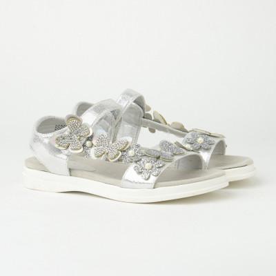 Sandale za devojčice CS252117 srebrne (brojevi od 31 do 36)