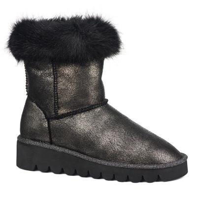 Tople čizme LH021818 crno-srebrne