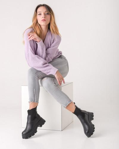 Ženske glomazne čizme L5164 crne