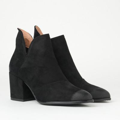 Ženske kratke čizme na malu petu A2108 crne