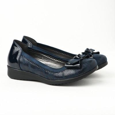 Ženske lakovane cipele / baletanke L551905 teget