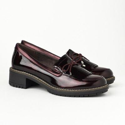 Ženske lakovane cipele C1838 bordo