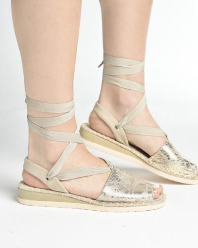 Ženske sandale/espadrile LS062029 zlatne