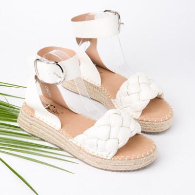 Ženske sandale na debelom djonu LS782100 bele