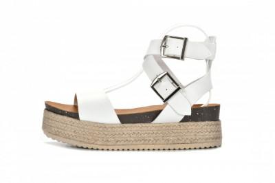Ženske sandale na debelom djonu LS792100 bele