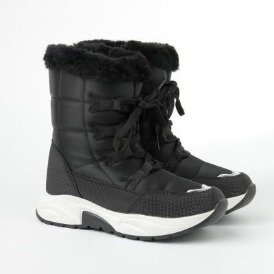 Zimske poluduboke čizme 7455 crne (36-41)