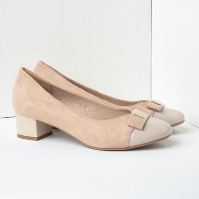 Cipele na malu štiklu C2113 bež