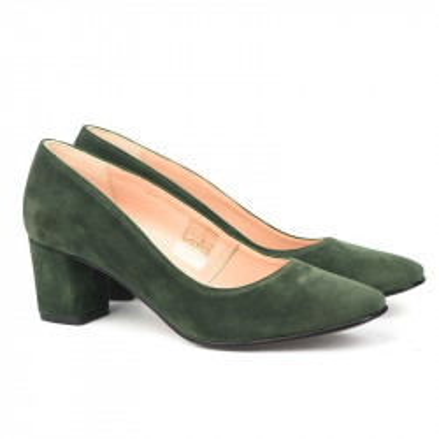 Cipele sa kožnom postavom 17-968 zelene