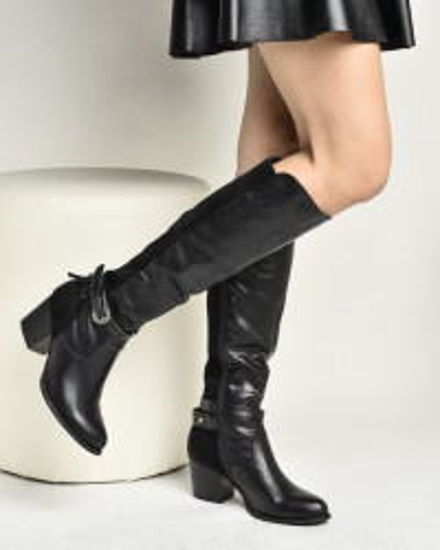 Duboke čizme na štiklu LX95950 crne