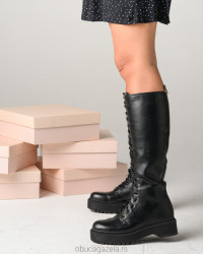 Duboke ženske čizme XT2551 crne