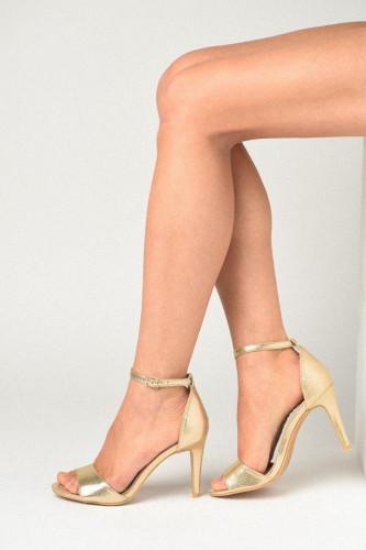 Elegantne sandale na štiklu LS91570 boja šampanjca