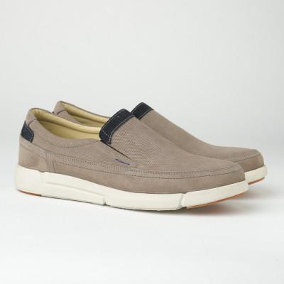 Kožne muške cipele/mokasine SF401-4 sive