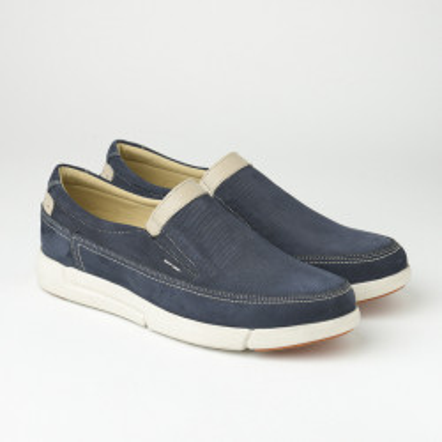 Kožne muške cipele/mokasine SF401-4 teget