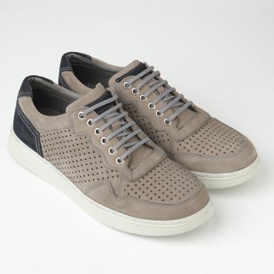Kožne muške patike/cipele 20410-1 sive