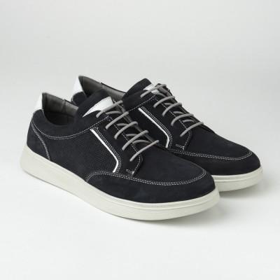Kožne muške patike/cipele 20410-8 tamno teget