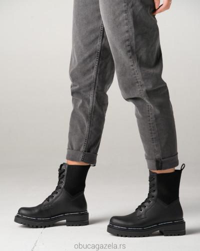 Kožne poluduboke čizme 1464 crne