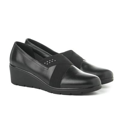 Kožne ženske cipele 664110 crne