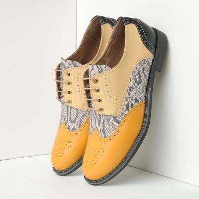 Kožne ženske cipele B15/9 žute