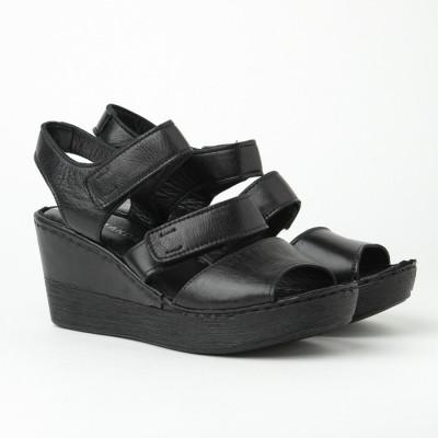 Kožne ženske sandale 1085 crne