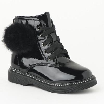 Lakovane čizme za devojčice BH251932 crne