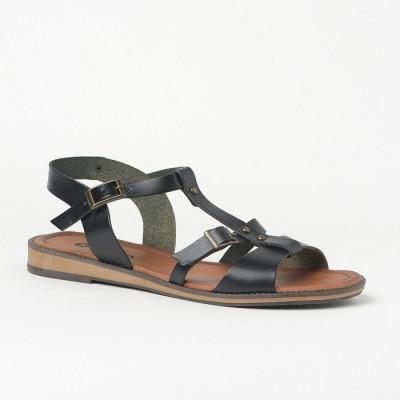 Ravne sandale 612 crne