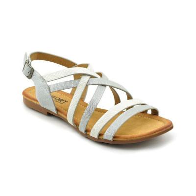 Ravne sandale LS020308 srebrne