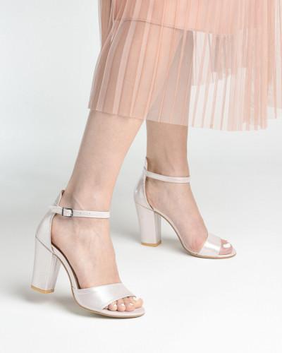 Sandale na deblju petu 27 svetlo roze