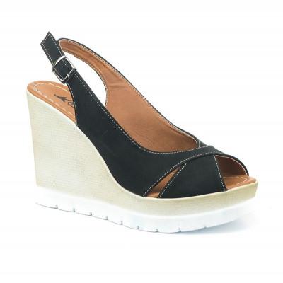 Sandale na platformu 5484/1008 crne