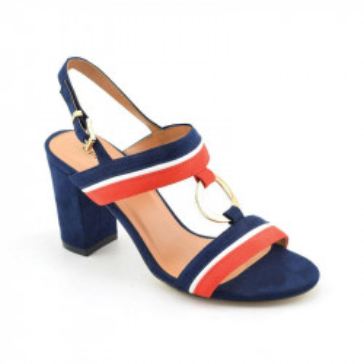 Sandale na štiklu LS021600 teget