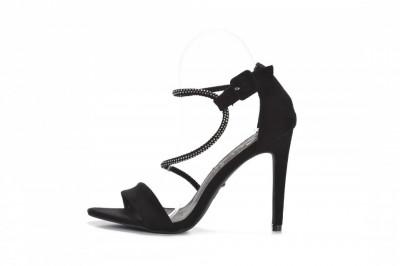 Sandale na štiklu LS242027 crne