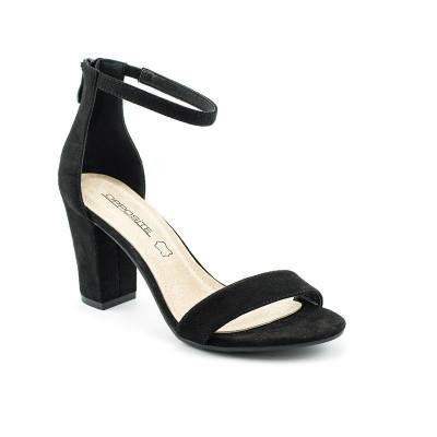 Sandale na štiklu LS91557 crne