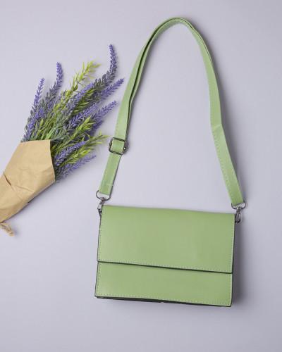 Ženska tašna na preklop svetlo zelena