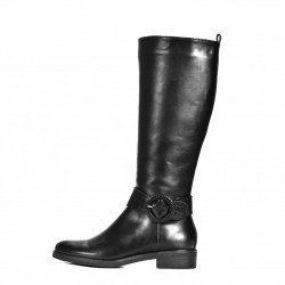 Ženske duboke ravne čizme LX212026 crne