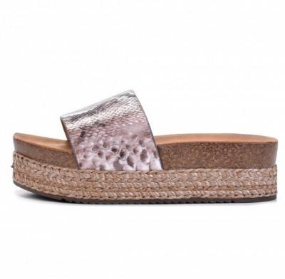 Ženske papuče na debelom đonu LP021935 zmijski dezen